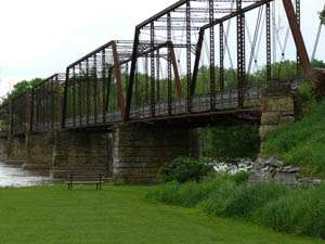 Bentonsport Iron Truss Bridge