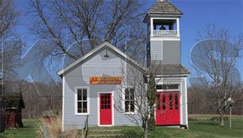 Bristol Kendall Fire Department Firehouse  Lyon Farm Museum Complex