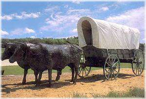 Covered Wagon Sculpture