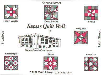 LASR - Kansas Quilt Walk Map - Great Bend, Kansas
