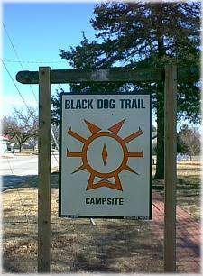 Black Dog Trail Marker