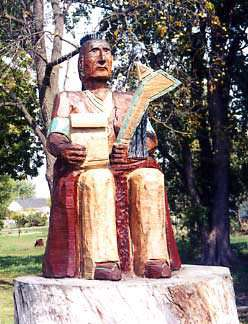 Osage Indian Chain Saw Sculpture
