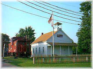 Schoolhouse and Caboose