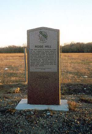 Rose Hill Historical Marker