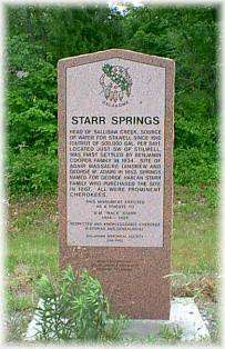 Starr Springs Monument