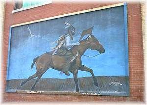 """""""Osage Thunder"""" - Artist, M. Bearden, 1995"""