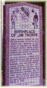 Jim Thorpe Birthsite Monument