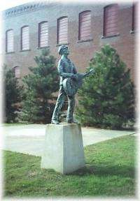 Woody Guthrie Statue and Mural