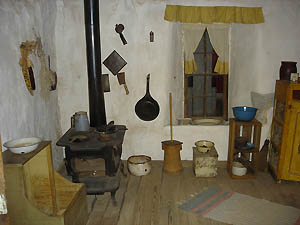Sod House Museum kitchen