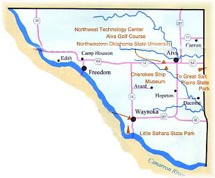 Freedom Oklahoma Map.Woods County Oklahoma