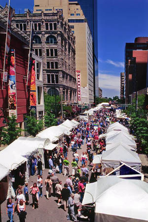 The Downtown Denver Arts Festival is one of the city of Denver's premiere spring events. The fine art and fine craft exhibition features over 130 of Colorado's best artists with over 150,000 people expected to attend. Last year, patrons spent over half million dollars with the festival's artists! 