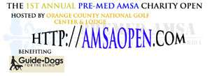 We're very excited to holding the 1st Annual Pre-Med AMSA Charity Open at Orange County National, home of the 2003, 2005, 2007, and 2010 PGA Tour Q-School Finals! Orange County National is the #1 public course in Florida, and the #2 public course in the United States! 