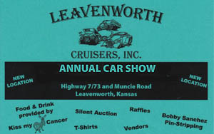 Leavenworth Cruisers Scholarship Fundraiser Car Show