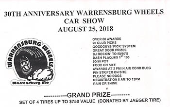 Warrensburg Wheels Car show