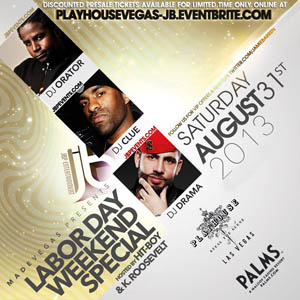 Labor Day Weekend at Playhouse Las Vegas inside Palms Casino