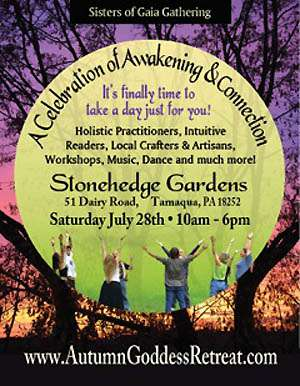 Wellness in Harmony and Purple Sage Healing are partnering with Stonehedge Gardens to create a magical festival of awakening and celebration on July 28th from 10-6.  The festival will be held on the beautiful seven acre grounds of Stonehedge Gardens and will include a host of holistic practitioners and healers from the surrounding area, as well as local crafters, artists, and shops selling their wares and services.  