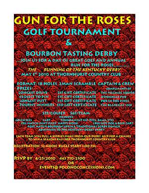 Gun for the Roses Bourbon Sippin & Golf Outing
