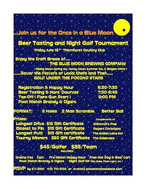 Once in a Blue Moon Beer Tasting & Night Golf Tournament