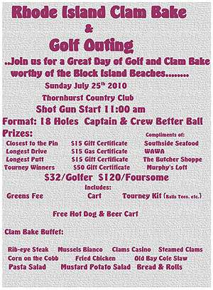 Rhode Island Clam Bake & Golf Outing