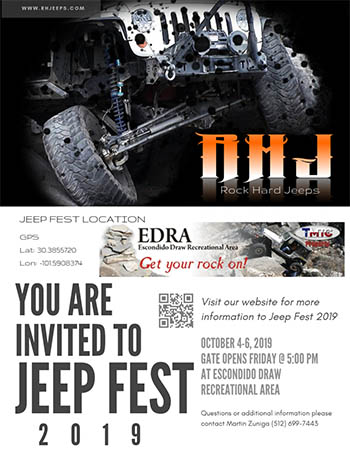 Jeep Fest 2019 at the Escondido Draw Recreational Area